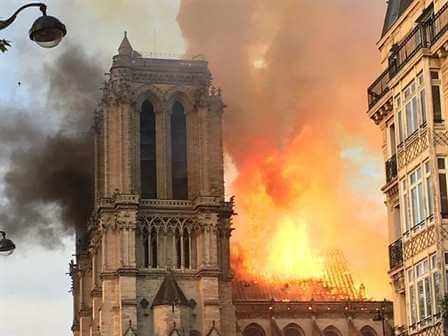 Пожар в соборе Нотр-Дам в Париже. 15 апреля 2019 года