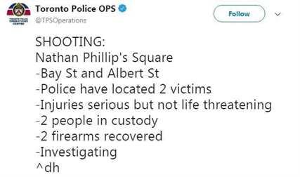 Стрельба в Торонто твит полиции
