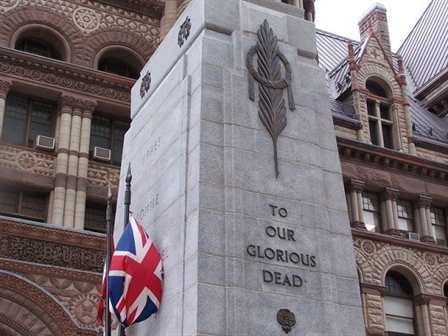 Cenotaph at Old City Hall