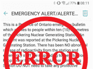 Emergency alert sent by error