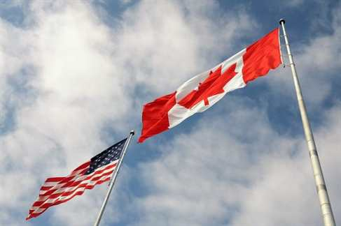 canada usa flags
